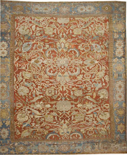 Antique Persian Ziegler Rug