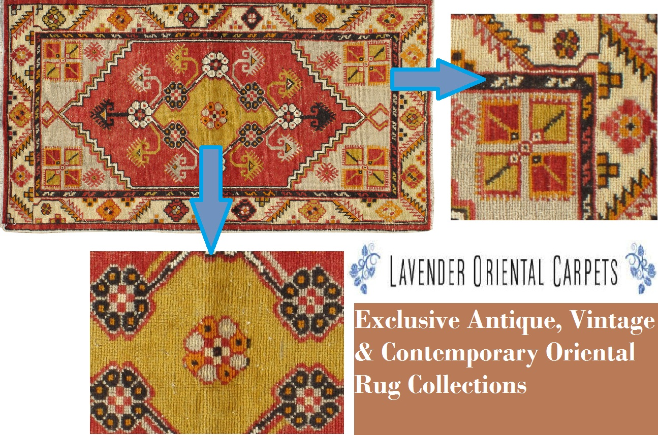 Antique Oushak Rug Pattern